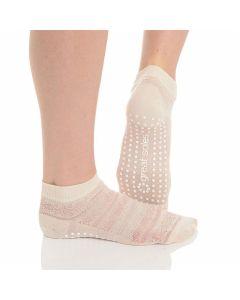Great Soles - Kailey Crochet Grip Sock - Ivory/Iviry