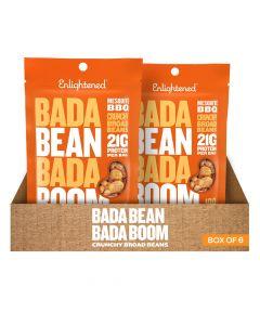 Bada Bean Bada Boom - Mesquite Bbq Crunchy Broad Beans - Box of 6