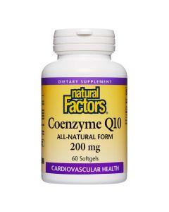 Natural Factors - Coenzyme Q10 100% Natural 200mg
