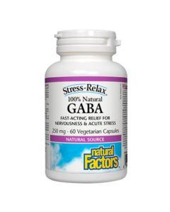 Natural Factors Stress-Relax 100% Natural GABA 250 mg