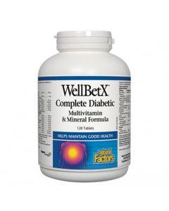 Natural Factors WellBetX Complete Diabetic Multivitamin & Mineral Formula
