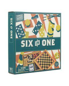 Professor Puzzle Six in One Wooden Game Compendium