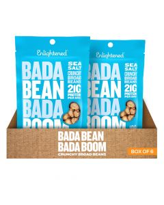 Bada Bean Bada Boom - Sea Salt Crunchy Broad Beans - Box of 6