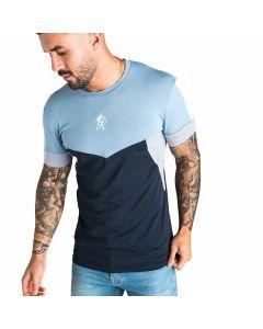Gym King - Koen T-Shirt - Ash Blue / Navy