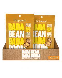Bada Bean Bada Boom - Sweet Onion & Mustard Crunchy Broad Beans - Box of 6