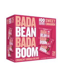 Bada Bean Bada Boom - Sweet Cinnamon Crunchy Broad Beans - 24 Bags