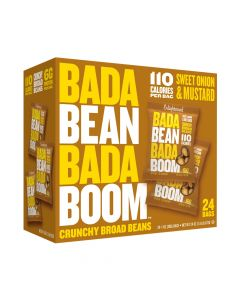 Bada Bean Bada Boom - Sweet Onion & Mustard Crunchy Broad Beans - 24 Bags