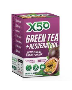 إكس 50 شاي أخضر و ريزفيراترول - باشن فروت
