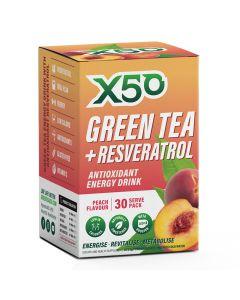 إكس 50 شاي أخضر و ريزفيراترول - خوخ