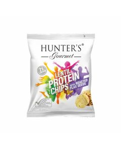Hunter's Gourmet Lentil Protein Chips With Roasted Flax Seeds