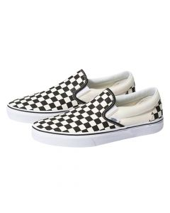 Vans - Classic Slip-on - Checkerboard - White/Black