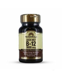 Windmill Natural Vitamins - Quick Melt B-12 3000 MCG