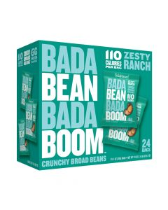 Bada Bean Bada Boom - Zesty Ranch  Crunchy Broad Beans - 24 Bags